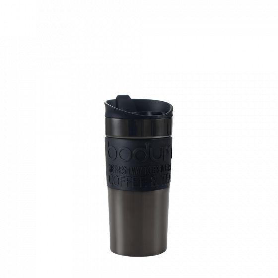 Double-walled insulated travel mug: Bodum® Travel Mug - Anthracite