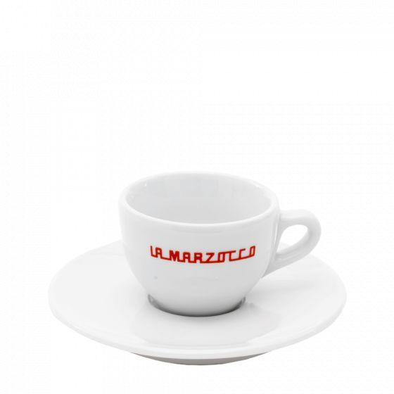 espresso cups set La Marzocco white