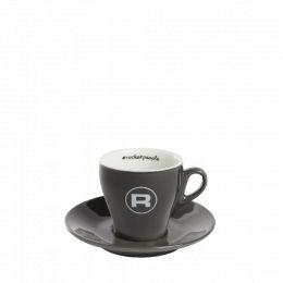 Set of 6 Flat White cups –  Rocket Espresso – Rocketpeople  – Black