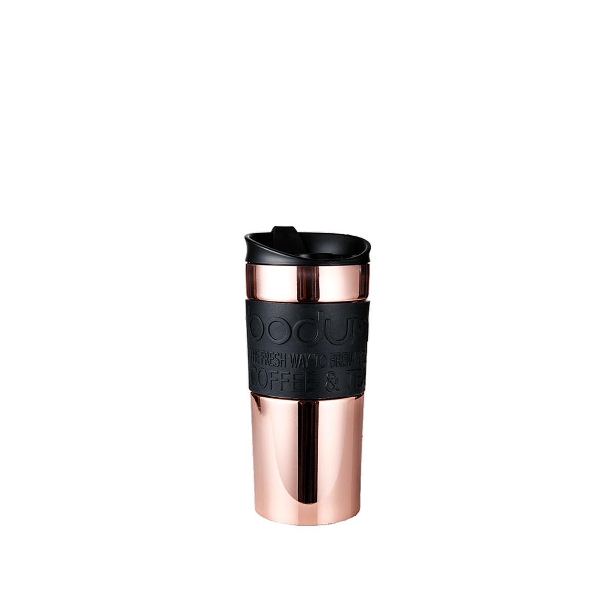 Double-walled insulated travel mug: Bodum® Travel Mug - Copper