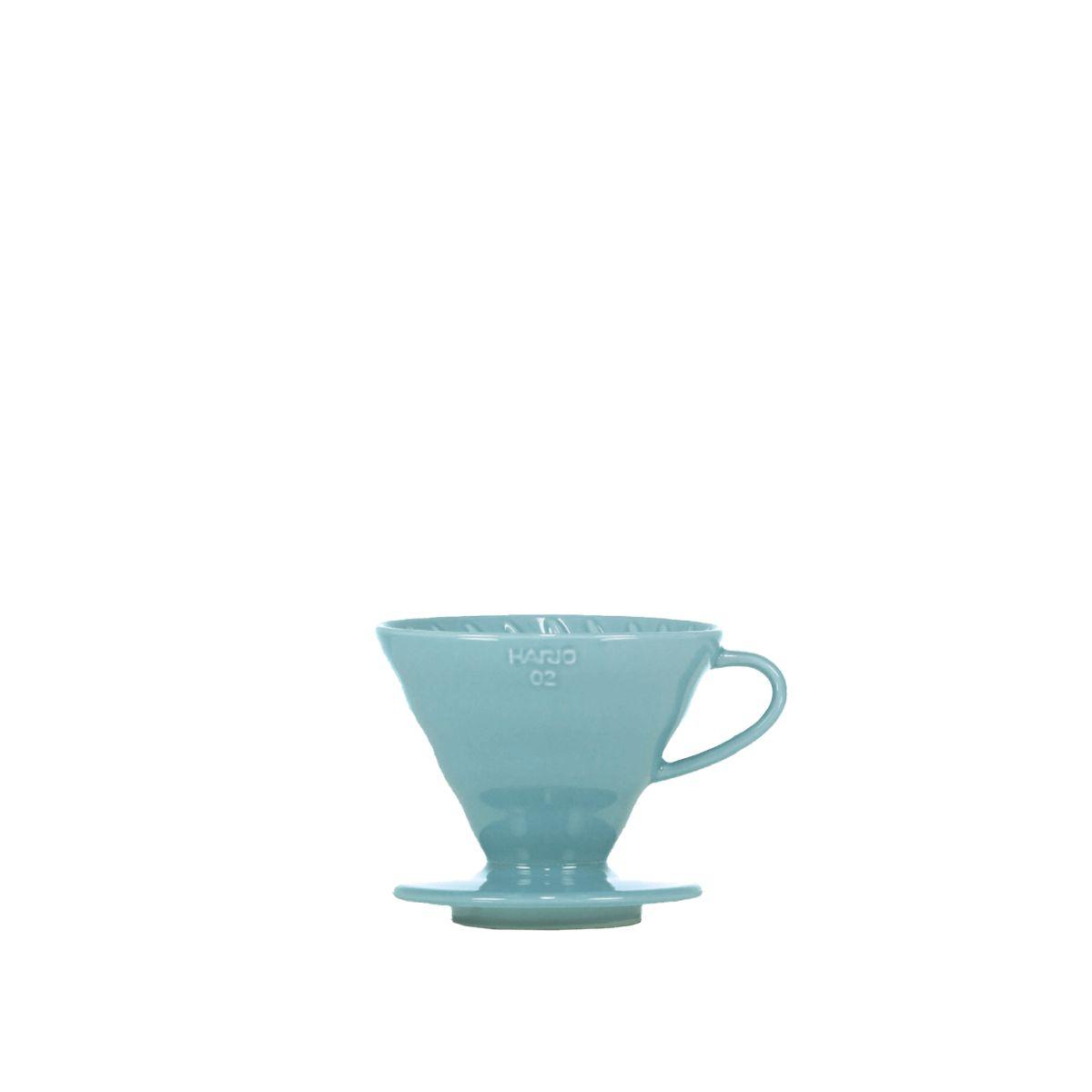 V60 dripper Hario porcelaine [3/4 tasses] - Bleu turquoise