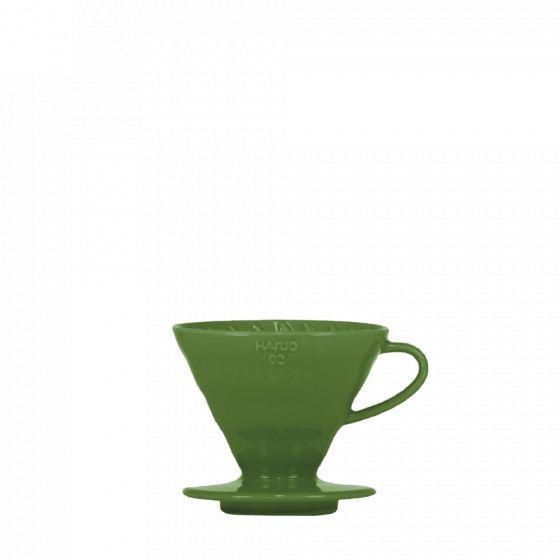 V60 dripper Hario porcelaine [3/4 tasses] - Kaki